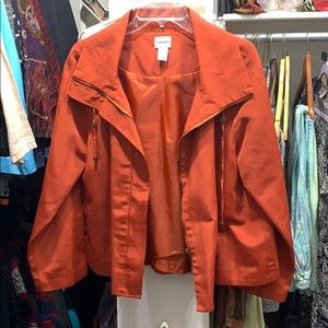 Chico's Burnt Orange Jacket